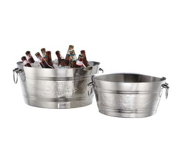 American Metalcraft DWBT15 - SS Party Tub, 495 oz., 15in. dia., Hammered Finish