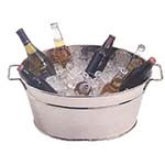 American Metalcraft HMDOB19149 - Stainless Steel Party Tub, 13in. H x 19in. L x 9in. dia.