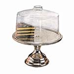 American Metalcraft 19SET - Stainless Steel Cake Stand & Cover, 13-1/2 x 7-1/2 in.