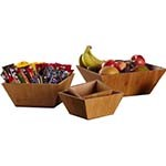 American Metalcraft BAM94 - Square Bamboo Bowl, 9-1/2 in x 4 in H (Case of 6)