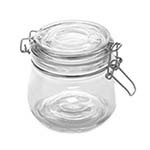 American Metalcraft HMJ4 - Glass Mason Jar w/Hinged Lid, 16 oz.