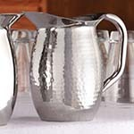 American Metalcraft HMWP44 - Double Wall Insulated Bell Pitcher w/Hammered Finish, 44.8 oz. (Case of 12)