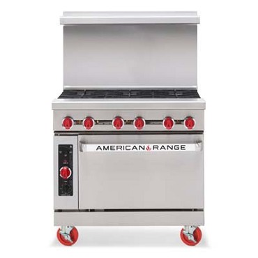 American Range AR-6NG - Heavy Duty Restaurant Range, natural gas, 36 inch