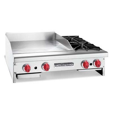 American Range AR24-12G2OBLP - Griddle with Open Burner, liquid propane, countertop