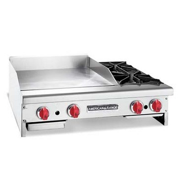 American Range AR-36-24TG2OBNG - Griddle with Open Burners, natural gas, countertop