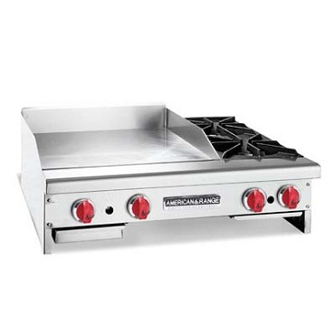American Range AR84-72TG2OBNG - Griddle with Open Burners, natural gas, countertop