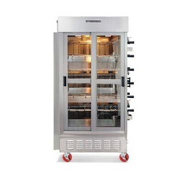 American Range ACB-14LP - Rotisserie Oven, liquid propane, (14) heavy duty chrome plated spits w/individual gear motors