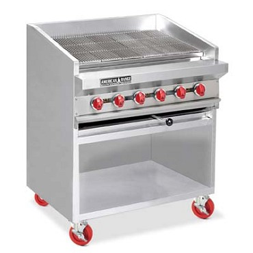 "American Range ADJF-36 - Charbroiler, Gas, Floor Model, 36"" wide, radiant type"