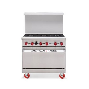 "American Range ARW36-6NG - Heavy Duty Restaurant Range, natural gas, 36"" wide"