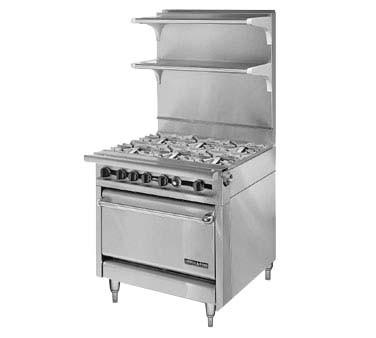 "American Range HD34-6-1 - Medallion Series Heavy Duty Range, Gas, 34"" , (6)"