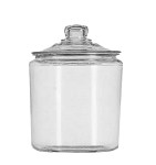 Anchor 69349T - Storage Jar w/ Cover, 1 gal., glass, Sure Guard Guarantee, Herit