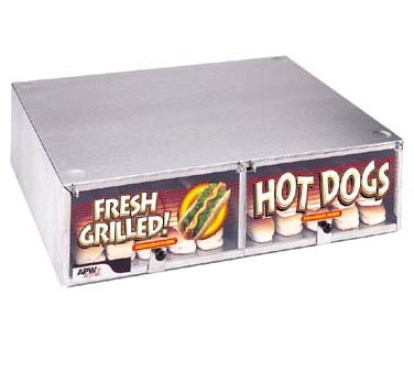 "APW BC-20 - Hot Dog Bun Box, 7-3/16"", (50) capacity, lift up doors"