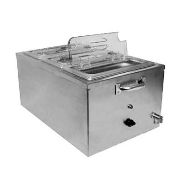 "APW CWM-2A - Food Pan Warmer, 22 quart, (1) 12"" x 20"" pan or (3) 1/3 size pans, drain"