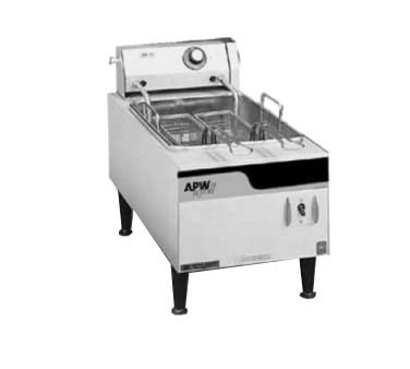 "APW EF-15IN - Countertop Fryer, electric, 12"", single pot, 15 lb. capacity"