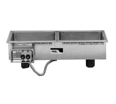 "APW HFWS-3D - Drop-In Hot Food Well, slim, (3) 12"" x 20"" wells, infinite controls, with drain"