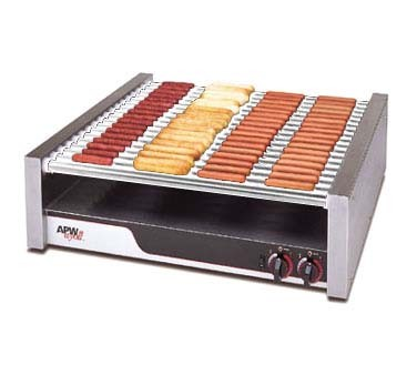 APW HR-75 - Hot Dog Grill, chrome rollers, (1275) per hour