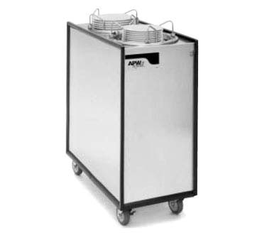 "APW ML2-9A - Dish Dispenser, mobile, enclosed, (2) tubes, up to 9-1/8"" diameter"