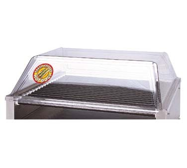 "APW SG-75/85 - Hot Dog Grill Sneeze Guard, sloped front, for 36"" x 31"" grills"