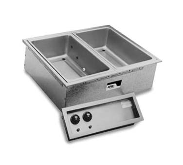 "APW HFWEZ-12D - Drop-In Hot Food Well, (1) 12"" x 10"" well, thermostatic, with drain"