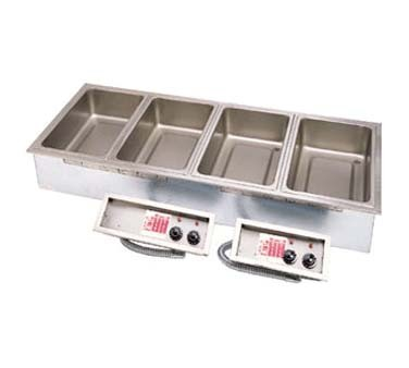 "APW SHFWEZ-5D - Drop-In Hot Food Well, (5) 12"" x 20"" well, wet operation, EZ-fill"