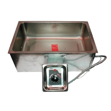 "APW BM-80D UL - Hot Food Well, built-in, (1) 12"" x 20"" pan, insulated, with drain, UL"
