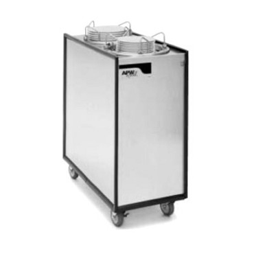 APW HML2-13 - Heated Dish Dispenser, mobile, enclosed, (2) tubes, up to 13""