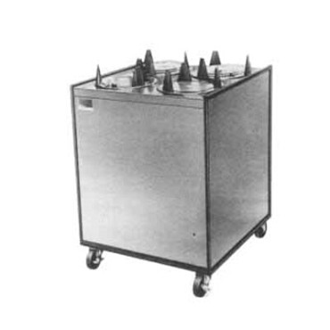 APW HML3-6.5 - Heated Dish Dispenser, mobile, enclosed, (3) tubes, up to 6-1/2""