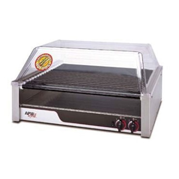 "APW HRS-45 - HotRod Hot Dog Grill, Roller-Type, 23-3/4 W x 29-9/16"" D, 16 Tr"
