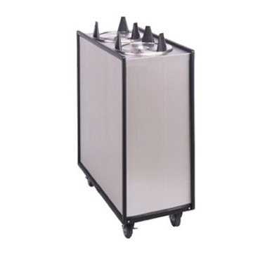 "APW ML3-6 - Dish Dispenser, mobile, enclosed, (3) tubes, up to 5-3/4"" diameter"