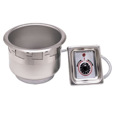 "APW SM-50-7 UL - Round Drop-In Food Warmer, 8-1/2"" diameter, 7 quart, without drain, UL"