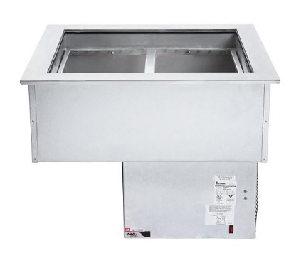 APW FACW-2 - Forced Air Cold Food Unit, drop-in, self-contained, (2) pan, insulated walls