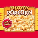 APW 217659-ONLY - Merchandiser Decal, hot buttery popcorn