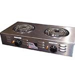 APW CP-2A - Hotplate, electric, portable, (2) burners, flat spiral tubular elements