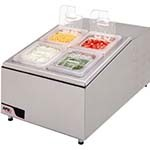 APW RTR-4 - Refrigerated Topping Rail, counter top condiment dispenser, self