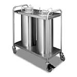APW HTL2-12A - Heated Dish Dispenser, mobile, open frame, (2) tubes, up to 11-7/8