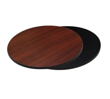 "ATS Furniture ADL42-B/DM - Reversible Table Top, round, 42"" , dark mahogany/black"