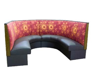 "ATS Furniture AS-363-12 GR6 - Corner Booth, 1/2 circle, 180""L, 3-channel, grade 6 seat"
