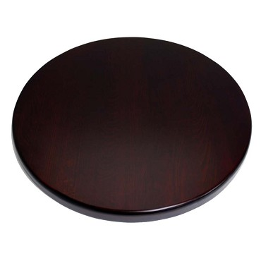 "ATS Furniture UV30-50-DM - Table Top, round, 30"" dia., dark mahogany finish"