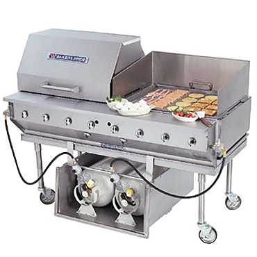 "Bakers Pride CBBQ-30S-P - Outdoor Charbroiler, gas, 30""W x 24""D broiling area, (1) nickel-"