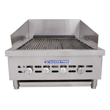 "Bakers Pride XX-4 - Charbroiler, gas, counter model, 21""W x 24""D broiling area, s/s"