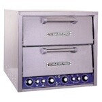 Bakers Pride DP-2BL - Pizza/Bake Oven, electric, brick lined, two compartment, 20-3/4
