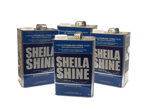 BK Resources BK-SSCLNR-128 - Sheila Shine Cleaner and Polish, 1 gallon per can (4 cans per case)