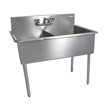 "BK Resources BK8BS-2-24-12 - Two Compartment Sink, 51""W x 27-1/2""D x 41""H"