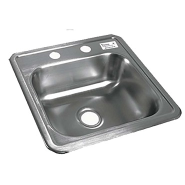 "BK Resources BK-DIS-1515 - Drop in sink, bowl size 12"" x 10"" x 5 1/8"", Stainless Steel cons"