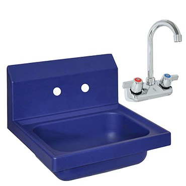 "BK Resources APHS-W1410-BPG - Hand Sink, 14 x 10""D x 5""Deep, with faucet"