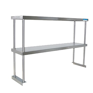 "BK Resources BK-OSD-1836 - Double Overshelf, table mount, 36 x 18""D x 31-1/4"" H"