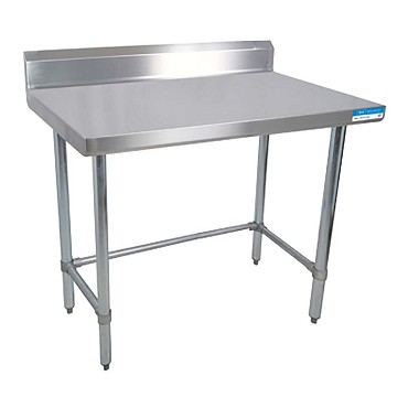 BK Resources CVTROB Stainless Steel Work Table Open Base - 16 gauge stainless steel work table
