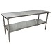 BK Resources CTT-7230 - Work Table, 72 x 30'D x 34-3/4' , 16 gauge, galvanized undershelf