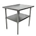 BK Resources CVT-3624 - Work Table, 36 x 24 x 34-3/4' , 16 gauge, SS Undershelf