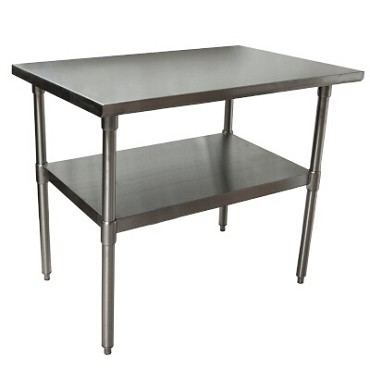 "BK Resources CVT-4824 - Work Table, 48 x 24 x 34-3/4"" , 16 gauge, SS Undershelf"